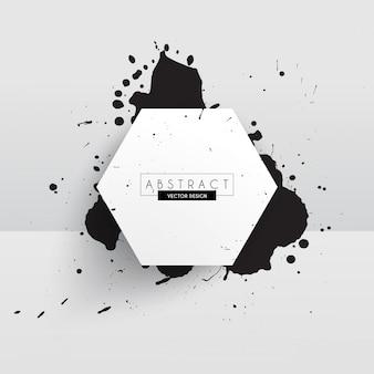 Vernice splatter vector frame