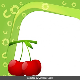 Frame with cherries