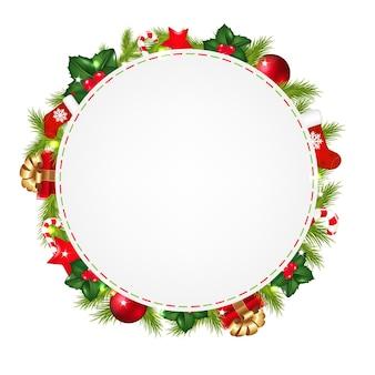 Рамка с рождественскими элементами