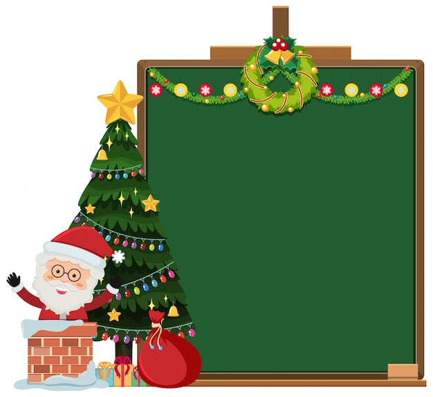 Frame with christmas theme background