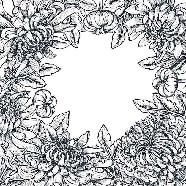 菊の花のフレーム