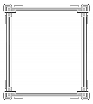 Frame with decor elements