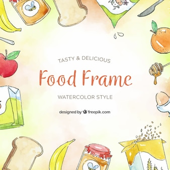 Frame with delicious food