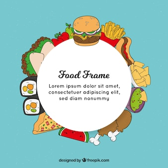 Frame with different food