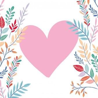 꽃 프레임 및 잎 아이콘
