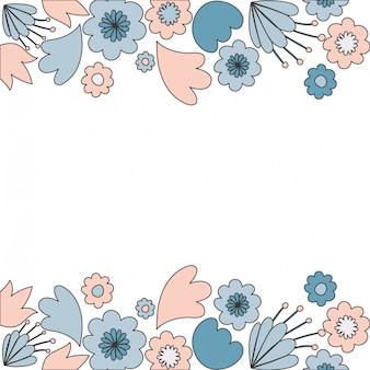 花と葉のアイコンを持つフレーム
