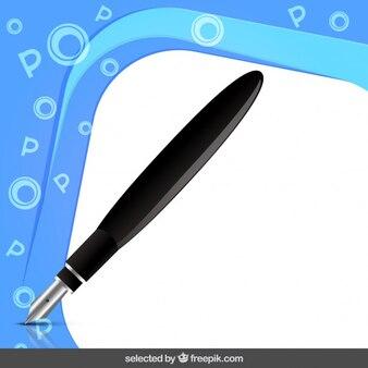 Telaio con penna stilografica