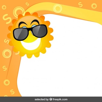 Frame with funny sun