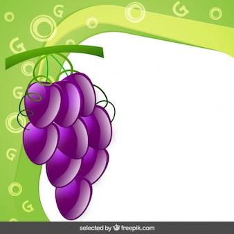 Рамка с виноградом кластера
