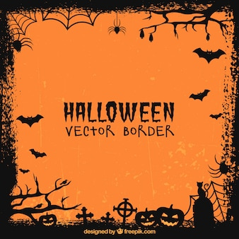 Frame with halloween elements