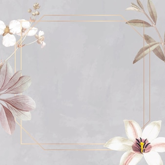 Frame with lily and bulltongue arrowhead background