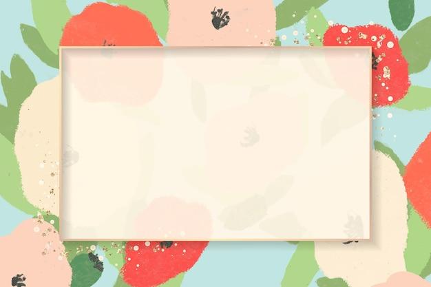 Frame with a poppy flower sketch