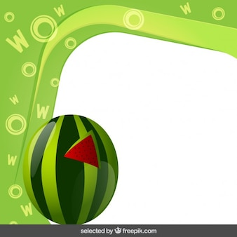 Frame with watermelon