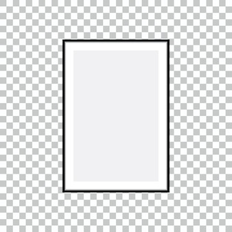 Frame for your text or photo isolated on transparent background