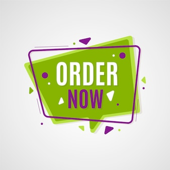 Framed order now banner template