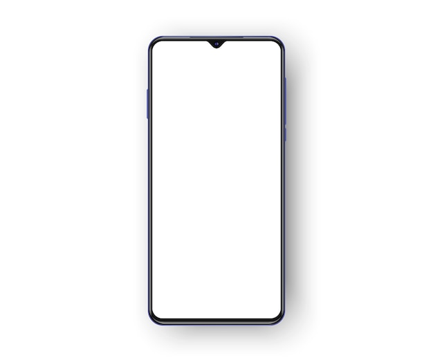 Frameless cell phone isolated on white background
