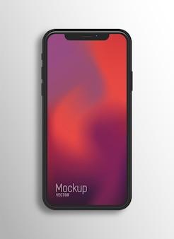 Безрамочный смартфон на белой поверхности