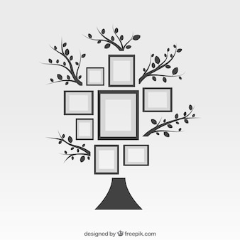 Frames as collage on tree