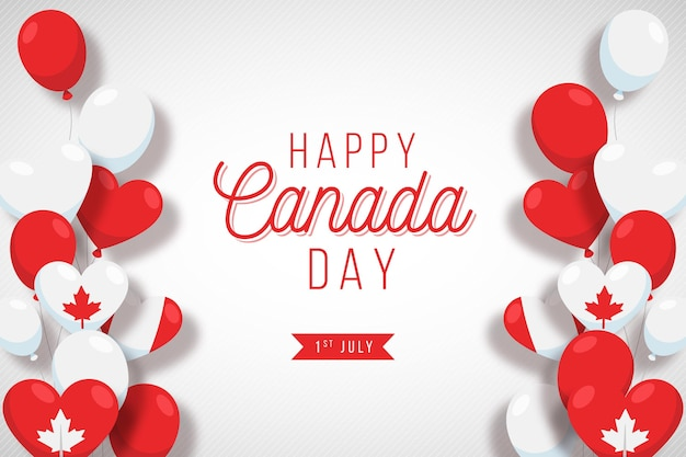 Frames of balloons canada day background