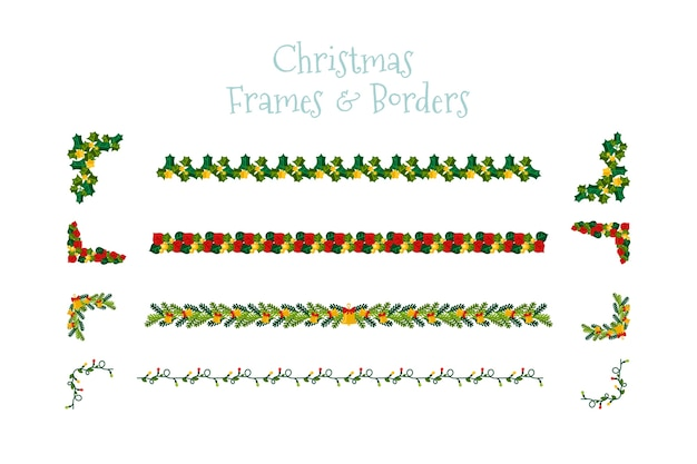 Frames and borders for christmas design