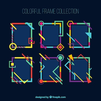 Frames collection in colorful style