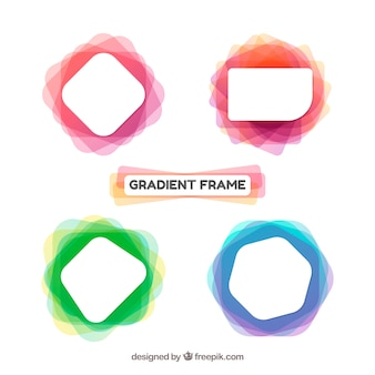 Frames collection in gradient colors