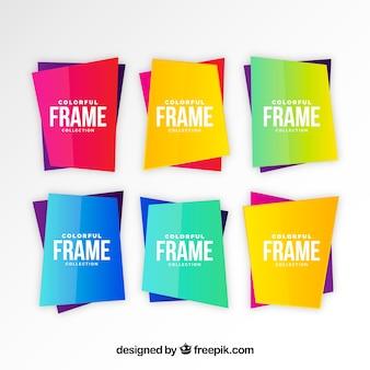 그라디언트 색상으로 프레임 컬렉션