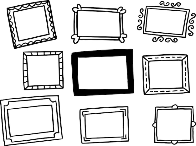 Frames doodle collection
