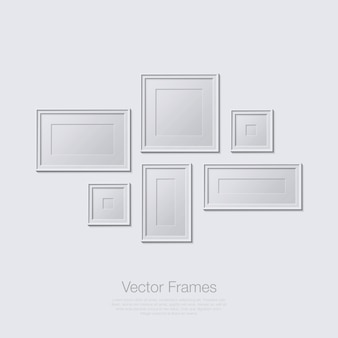 Frames illustration in flat design monochrome