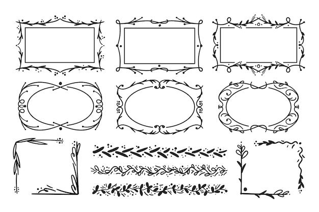 Рамки, изолированные на белом фоне
