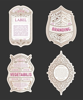 Frames for labels sold stickers and logos design