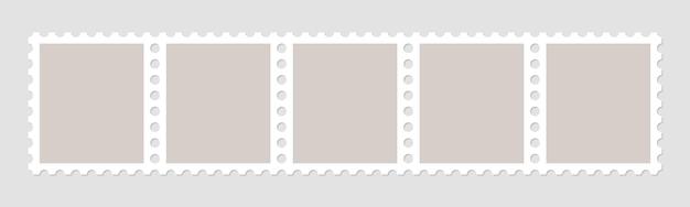 우편 봉투 용 우표 프레임.