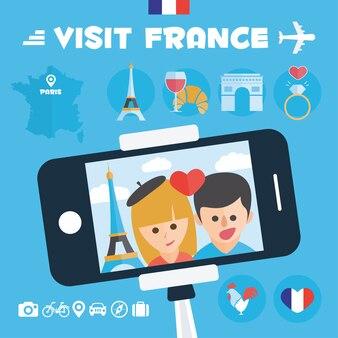 France background design Free Vector