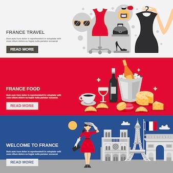 France banner set