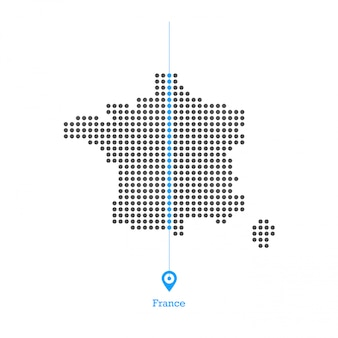 France doted map design vector