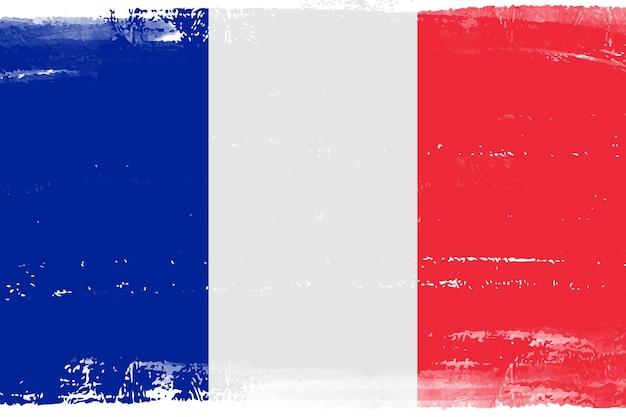グランジスタイルのフランス国旗