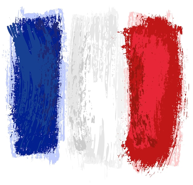 France flag painted with a brush