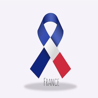 France flag ribbon design