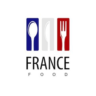 Франция еда, ресторан логотип