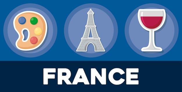 France icon set
