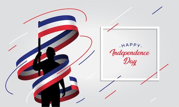 フランス独立記念日のイラスト