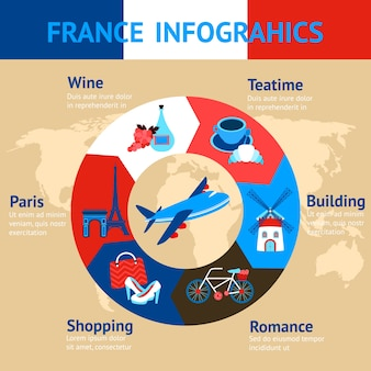 France infographic template