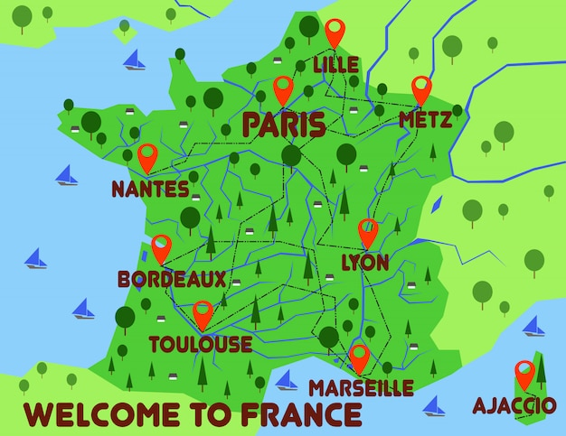 France map country infographics