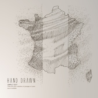 France map hand drawn