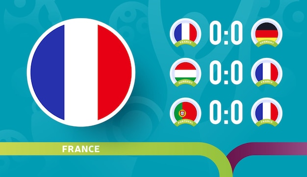 France national team schedule matches in the final stage at the 2020 football championship