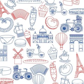 France paris card images monuments food