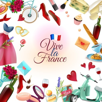 Франция париж фон рамки