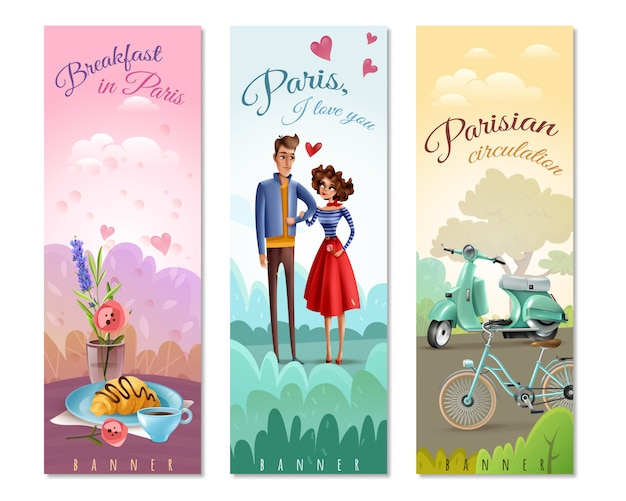 France paris vertical banners