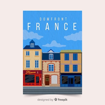 France promotional poster template