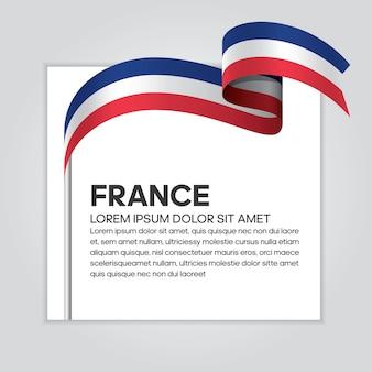 France ribbon flag, vector illustration on a white background